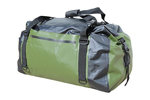 COR Waterproof 60L Duffel Bag 100% Waterproof Dry Bag Duffel Bag - Lightweight, Durable, Comfortable, Versatile Perfect for Kayaking, Rafting, Travel, Surfing, Skiing (Black and Green)