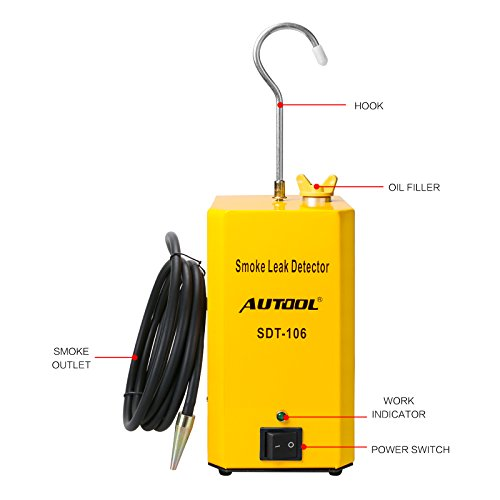 AUTOOL SDT-106 Vehicle EVAP System Leak Testing Machine Leak Detector, 12V Automotive Fuel Pipe System Leak Tester with EVAP Adapters for All Cars Motorcycles - 3 Years Warranty by AUTOOL (Image #4)
