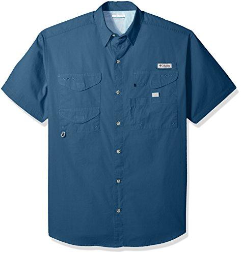 Columbia Men's Bonehead Short Sleeve Shirt, Blue Heron, Large