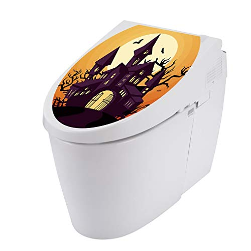 Clearance Sale ! Halloween Decoration for Home,Vanvler Toilet Seat Cover Wall Sticker Decals Vinyl Removable Wallpapers (A)