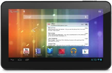 Ematic EGS102BL 10.0-Inch 4GB Genesis Prime XL Multi-Touch Tablet (Black)