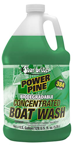 Star brite Power Pine Concentrated Boat Wash, Biodegradable - Works in Fresh or Salt Water