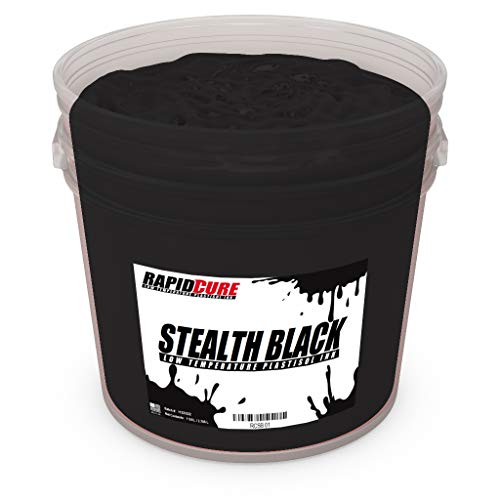 Ecotex Low Temperature Cure Plastisol Ink - Stealth Black - Rapid Cure Series for Screen Printing - Non Phthalate Formula for Fabric/Textiles Quart