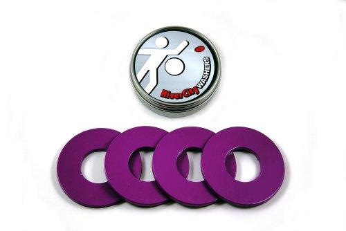 RiverCity Pitching Washers: (4) Purple 2.5 Inch Washers