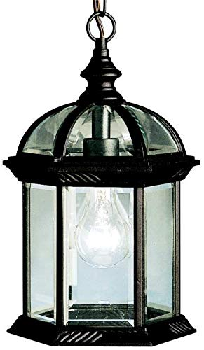 Lighting Medium Outdoor Pendant (Kichler 9835BK Barrie Outdoor Pendant 1-Light, Black)