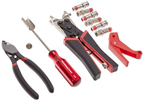 Platinum Tools 90137 SealSmart CCTV Compression Coax Kit, w/Zip Case. Box.