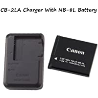 CB-2LA Battery Charger + NB-8L Battery For Cameras….PowerShot A2200 PowerShot A3000 IS PowerShot A3100 IS PowerShot A3300 IS