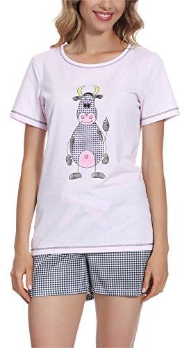 per 0227 Italian Donna Pigiama Rosa Raspberry Fashion IF HHrwAOqt