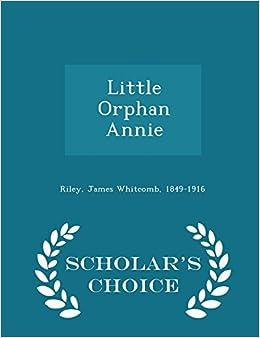 Book Little Orphan Annie - Scholar's Choice Edition