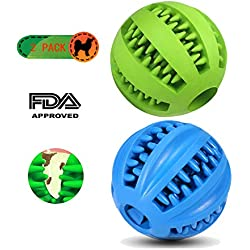 CRIFY Clean&Pure Dog Teeth Cleaning Ball | Durable Natural Rubber Bite Resistant Oral Care Dog Teeth Cleaner | IQ Training Dog Toy(2 Pack)