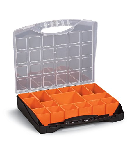 (Small Parts Organizer Compartment Storage Box for Hardware, Screws Nuts and Bolts With 16 Removable Bins 10