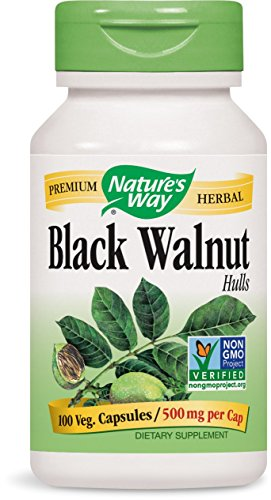 Nature's Way Black Walnut Hulls, 100 Capsules (Pack of 2)