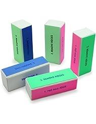 5pcs nail Art Shiner Buffer 4 Ways Polish Sanding File Block Manicure Product by NYKKOLA