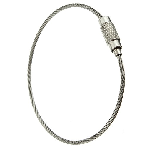 Keychain Aircraft Cable Stainless Steel