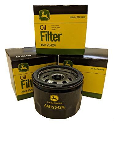 John Deere Original Equipment Package of Three Oil Filters - AM125424 (3)