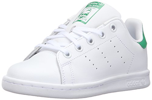 Price comparison product image adidas Originals Kids' Stan Smith EL C Fashion Sneaker, White/White/Fairway, 2.5 M US Little Kid