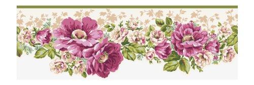 York Wallcoverings AK7408B Ashford House Blooms Victorian Garden Border, White/Off Whites