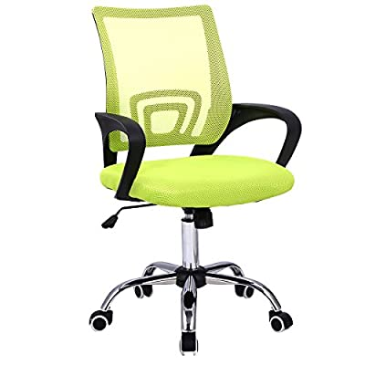 Giantex Modern Mesh Mid-Back Office Chair Computer Desk Task Ergonomic Swivel