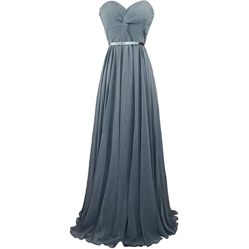 Lemai Criss Cross Long Sash A Line Prom Fomal Corset Evening Bridesmaid Dresses Charcoal US16W