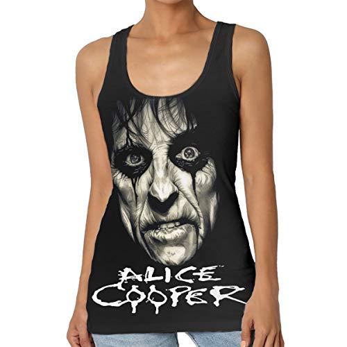 - Alice Cooper Woman Sports Tank-Leisure Vest T-Shirt Tank Top Sleeveless T-Shirt Black