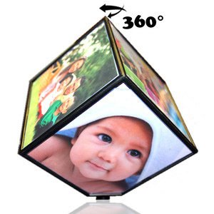 My Magic Gift Personalized 6 Photo Rotating Magic Cube(10X10 cm)