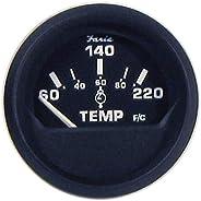 "FARIA BEEDE 12819 Euro Cylinder Head Temperature Gauge with Sender (60-220°F) - 2""&qu"