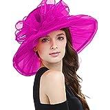 easter decorating ideas Janey&Rubbins Women's Kentucky Derby Fascinators Church Wedding Easter Tea Party Hat (Hot Pink)