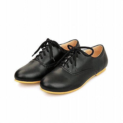 Scarpe Da Donna Texas Texas Lace-up Con Punta Arrotondata Color Nero