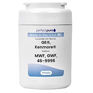 PerfectPure Made in USA Water Filter Replaces GE, Hotpoint, Sears, Kenmore, Brita, MWF Smart Filter, GWF, MWFP, HWF, HWFA, MWFA, MWFAP, MWFDS, GWFDS, 46-9991, 46-9996, WF287, WSG-1, RFC0600A