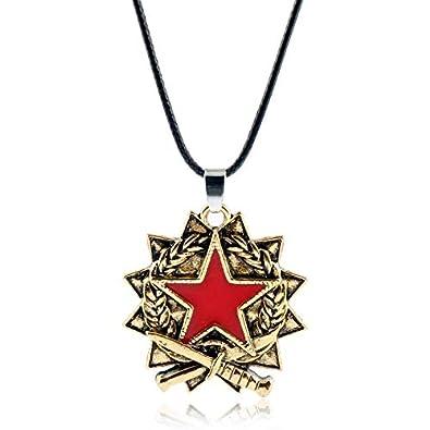 VAWAA Juego Csgo Counter Strike Colgante Collar Moda Red ...