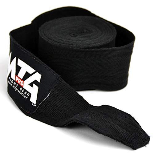Muay Thai MMA Kickboxing MTG Pro 5/m Coton Boxe Noir