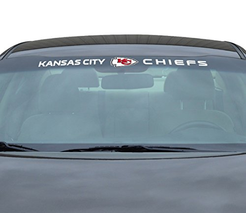 NFL Kansas City Chiefs Windshield Decal, Red, - Kansas City Outlet Malls