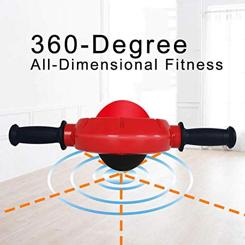 No Noise 360 Degree Abdominal Wheel Ab Roller Exercise for sale  Delivered anywhere in Canada