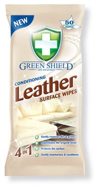 Green Shield Conditioning Leather Surface Wipes 50 Pack - Extra Large Wipes