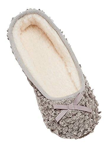 MIXIN Women's Ballerina Velveteen Soft Sole Indoor Slippers Grey US Size 8 Photo #3