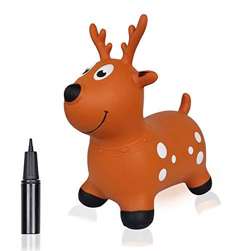 Bouncy Horse Hopper for Toddlers-Hopping//Hoppity//Bouncing//Bounce Horse Jumping Horse Pump Included Inflatable Ride-on Animal Toy for Kids// Children// Boys// Girls