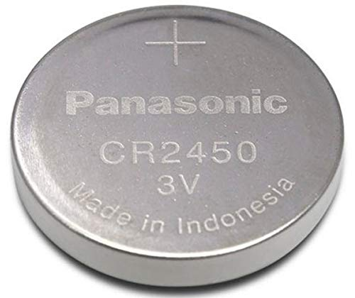 - Panasonic CR2450 Battery, Lithium, 3 Volt (Nom.), 620 mA, Coin Cell