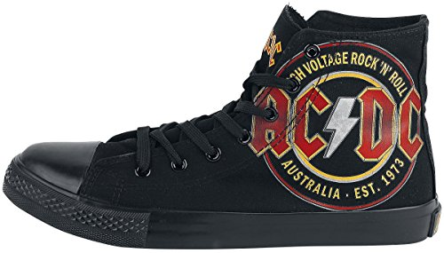 AC/DC High Voltage Basquettes noir EU 40