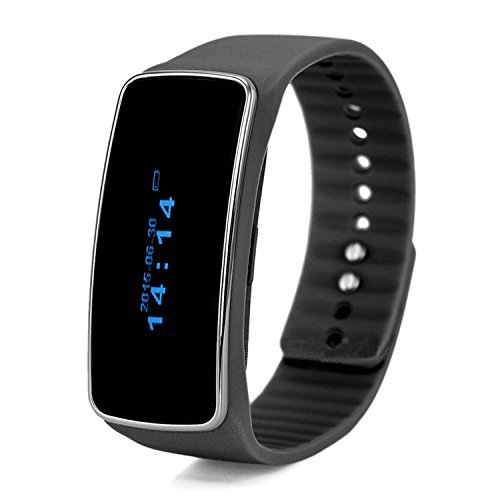 Bluetooth Smart Watch Fitness Tracker with Calorie Consumption Monitoring Call Message Reminder Life-Waterproof Pedometer Wristband for Android iOS Smartphone(Black)