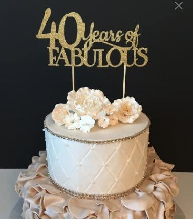 Surprising Amazon Com 40 Years Of Fabulous Cake Topper Arts Crafts Sewing Personalised Birthday Cards Petedlily Jamesorg