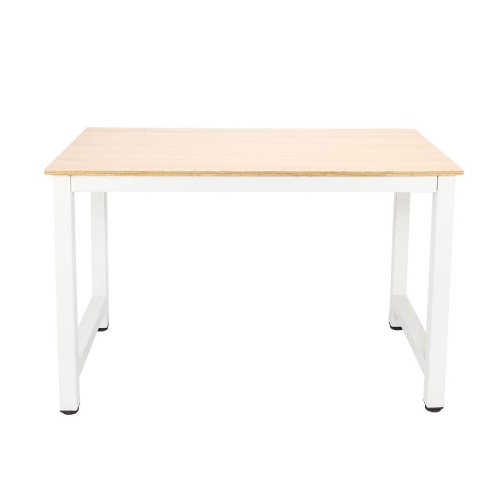 AUWU Simple Modern Wooden Laptop Desktop Computer Desk Office Student Study Writing Learning Table