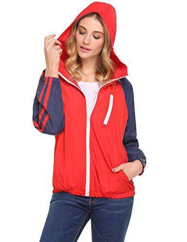 Unibelle Wasserdichte Regenjacke Damen Sport Outdoorjacke Neues Design Funktions Atmungsaktive Hooded Jacke