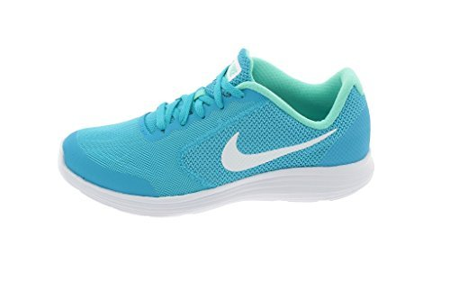 NIKE ' Shoes Revolution 3 (GS) Running Shoes ' B01M4HI92Y 5 M US Big Kid|Chlorine Blue/White/Hyper Turq 00e7d4