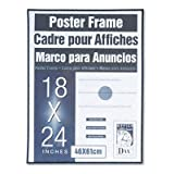 DAX® Coloredge Poster Frame, Clear Plastic Window, 18 x 24, Black, Sold As 6/Pack