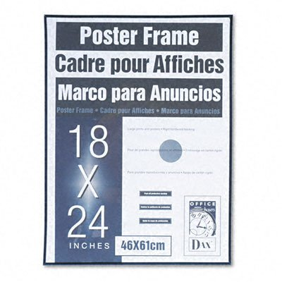 DAX® Coloredge Poster Frame, Clear Plastic Window, 18 x 24, Black, Sold As (Dax Poster)