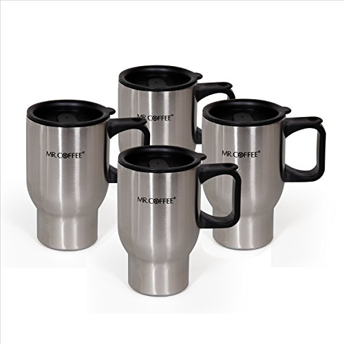 Mr. Coffee Expressway II 4 Pack 16oz Travel Mug & Lid