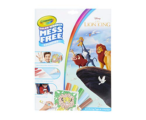 Crayola 75-7113 Lion King Pages & Markers Color Wonder Pad and Markers, Multicolor