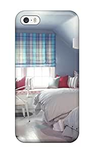 Irene R. Maestas's Shop Case Cover Protector For Iphone 5/5s Kids8217 Attic Bedroom With Blue Walls And Plaid Curtains Case VPKJ9YXWX58XGEHT