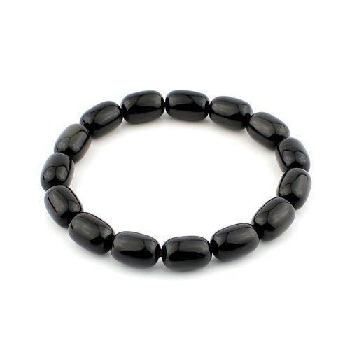 O-stone Obsidian Jujube of Energy Bracelet 8mm Grounding Stone Protection Amulet