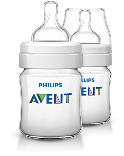 Philips Avent Anti-colic Baby Bottles Clear, 4oz, 2 Piece 2 Piece Bottle